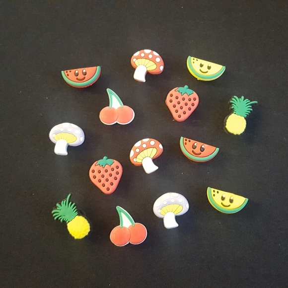 Fruit Strawberry  Shoe Charms Shoe Buttons Crocs Accessories Cake Toppers